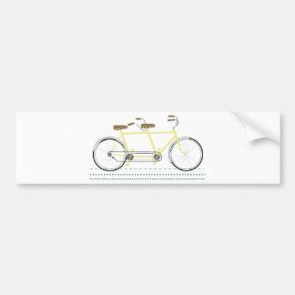 Autocollant De Voiture Bicyclette tandem