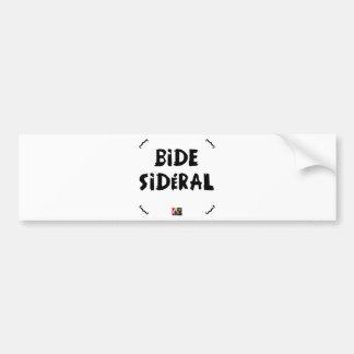 AUTOCOLLANT DE VOITURE BIDE SIDÉRAL
