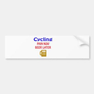 Autocollant De Voiture Bière de recyclage de douleur maintenant plus tard