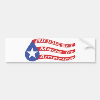 Autocollant De Voiture Biodiesel fait dans le drapeau des Etats-Unis