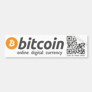 Autocollant De Voiture Bitcoin - code en ligne de l'autocollant QR de