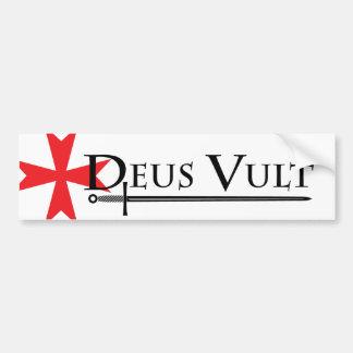 Autocollant De Voiture Blanc d'adhésif pour pare-chocs de Deus Vult (Dieu