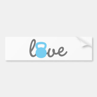 Autocollant De Voiture Bleu de Kettlebell d'amour