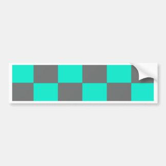 Autocollant De Voiture Blocs au néon de bleu