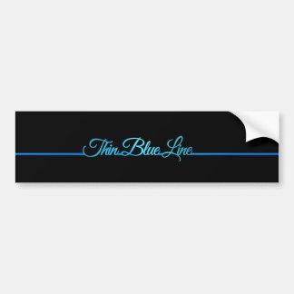 Autocollant De Voiture Blue Line mince
