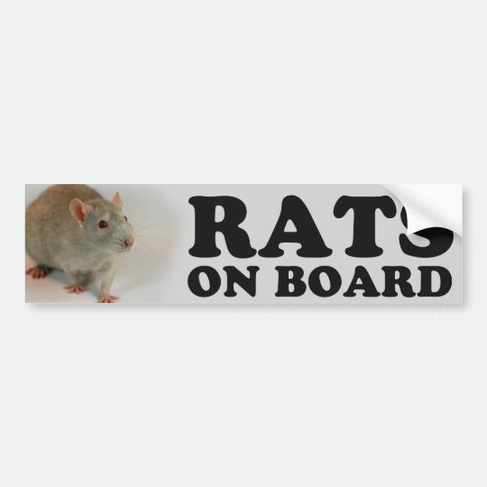 Autocollant De Voiture (Blue) Rats on board