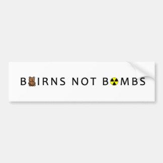 AUTOCOLLANT DE VOITURE BOMBES D'ENFANTS PAS