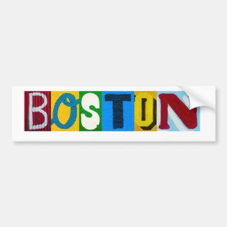 Autocollant De Voiture Boston marque avec des lettres l'adhésif pour