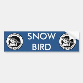 Autocollant De Voiture Bouclier de Snowbird du Massachusetts