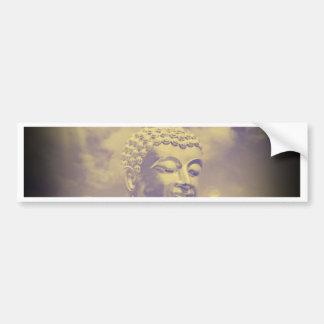 Autocollant De Voiture Bouddha en nuages colorés avec le soleil