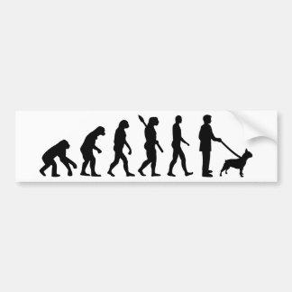Autocollant De Voiture Bouledogue français d'évolution