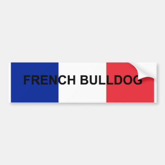 Autocollant De Voiture bouledogue français France flag.png