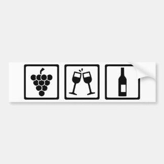 Autocollant De Voiture Bouteille en verre de vin de raisins