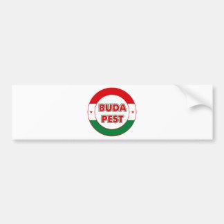 Autocollant De Voiture Budapest, circle, color