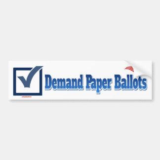 Autocollant De Voiture Bulletins de vote de demande