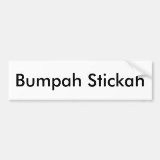 Autocollant De Voiture Bumpah Stickah