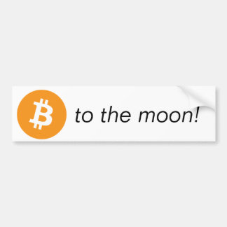 Autocollant De Voiture Bumpersticker - à la lune !