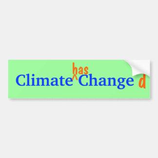 Autocollant De Voiture Bumpersticker changé par climat