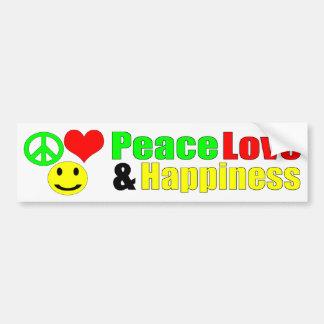 Autocollant De Voiture bumpersticker d'amour et de bonheur de paix