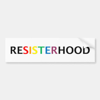 Autocollant De Voiture Bumpersticker de Resisterhood