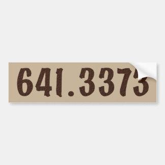 Autocollant De Voiture Bumpersticker décimal de café de Dewey