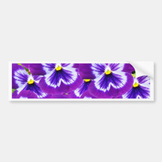 Autocollant De Voiture Butterfly_Purple_Pansies, _
