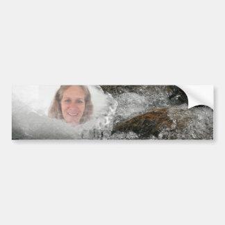 Autocollant De Voiture Cadre de photo de glaçons de rivière
