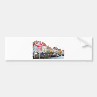 Autocollant De Voiture Canal de Nyhavn à Copenhague, Danmark