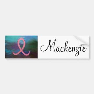 Autocollant De Voiture Cancer du sein rose audacieux nommé de support de