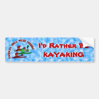 Autocollant De Voiture Canoë de kayak - palettes bien avec d'autres