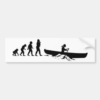 Autocollant De Voiture Canoë-kayak