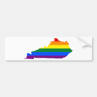 Autocollant De Voiture Carte de drapeau du Kentucky LGBT