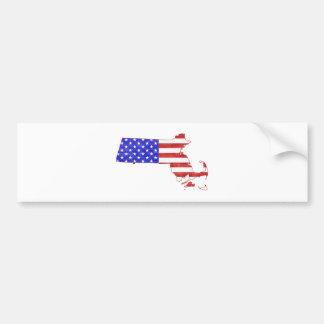 Autocollant De Voiture Carte d'état de silhouette de drapeau du