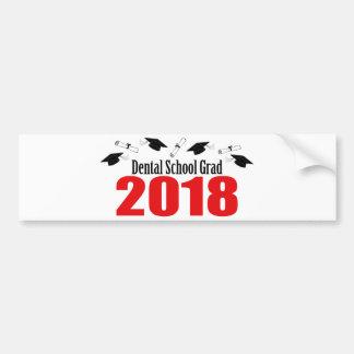 Autocollant De Voiture Casquettes et diplômes du diplômé 2018 d'école