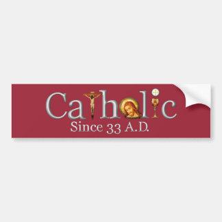 Autocollant De Voiture Catholique depuis l'adhésif pour pare-chocs de 33