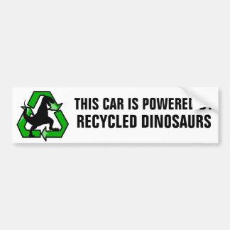Autocollant De Voiture Cette voiture est actionnée par les dinosaures