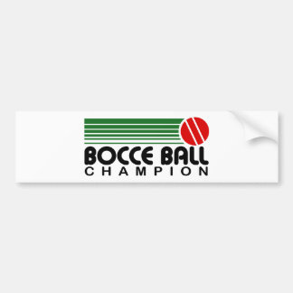 Autocollant De Voiture Champion de boule de Bocce