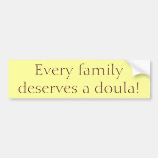 """Autocollant De Voiture """"Chaque famille mérite un Doula ! """"Adhésif pour"""