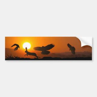 Autocollant De Voiture Chasse de faucons de Harris
