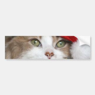 Autocollant De Voiture Chat de Père Noël - chat de Noël - chatons mignons