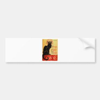Autocollant De Voiture Chat noir vintage d'Art Nouveau Le Chat Noir