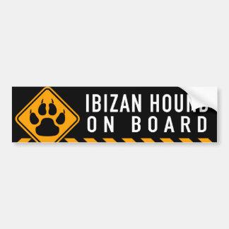 Autocollant De Voiture Chien d'Ibizan à bord