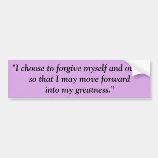 Autocollant De Voiture Choisissez de pardonner le pourpre d'adhésif pour