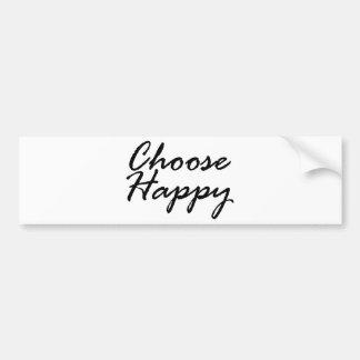 Autocollant De Voiture choisissez happy3