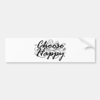 Autocollant De Voiture choisissez heureux