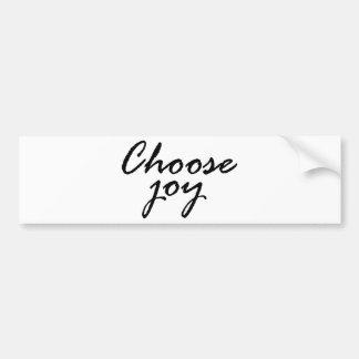 Autocollant De Voiture choisissez joy2