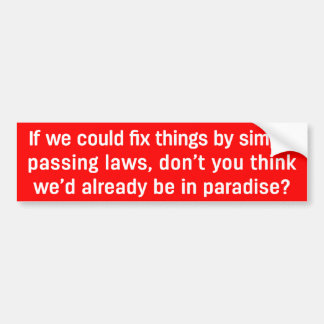 Autocollant De Voiture Choses de difficulté avec des lois