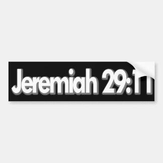 Autocollant De Voiture Chrétien de 29:11 de Jérémie