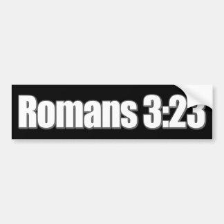 Autocollant De Voiture Chrétien de 3h23 de Romains
