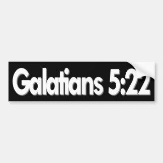Autocollant De Voiture Chrétien de 5h22 de Galatians